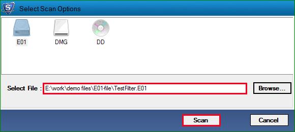 choose Scan option